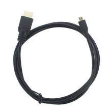 цена на Black Micro HDMI To HDMI Cable 1.5M 4K for Raspberry Pi 4 Model B Model B Micro HDMI To HDMI Cable Adaptor