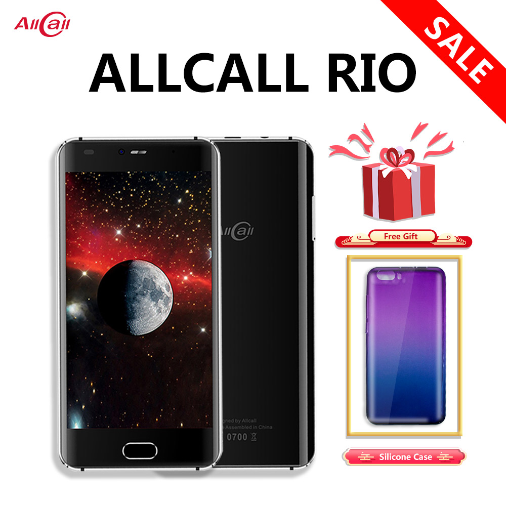Original Allcall Rio 5.0 Inch IPS Rear Cams <font><b>Android</b></font> <font><b>7.0</b></font> <font><b>Smartphone</b></font> MTK6580A Quad Core 1GB RAM 16GB ROM 8.0MP OTG 3G Mobile Phone image