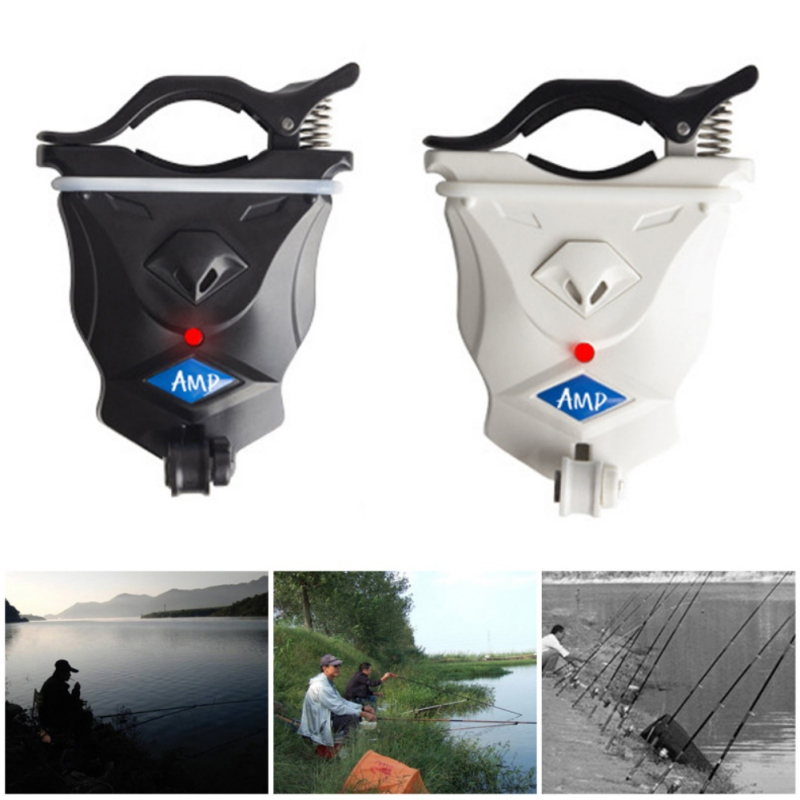 High Sensitive Fish Bite Alarm With Bright Light Fishing Rod Signal Device Bait Alertor Night Fishing Accessories
