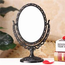 Ретро настольное косметическое зеркало Вращающийся Двухсторонний