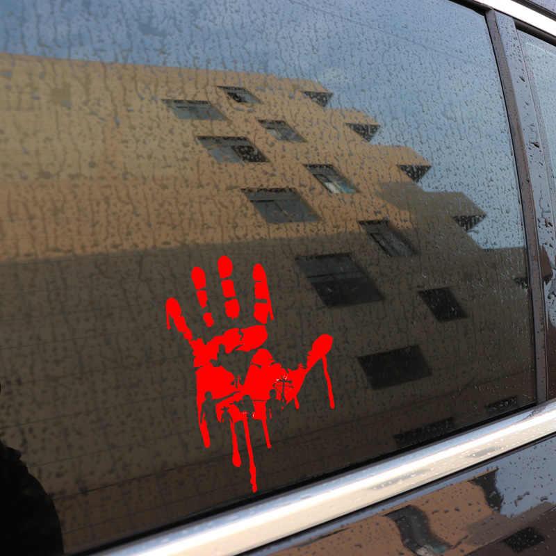 Aliauto 興味深い手と赤血球滴防水反射車のステッカー PVC 黒/シルバー高品質グラフィック、 18 センチメートル * 12 センチメートル