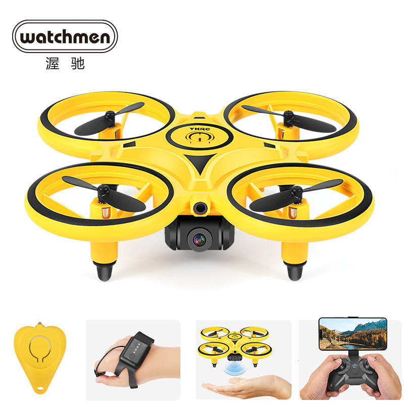 Mini Infrared RC Drone Quadcopter Gesture Induction Quadracopter  Wacth Remote Control Toys for Boys Christmas Gifts