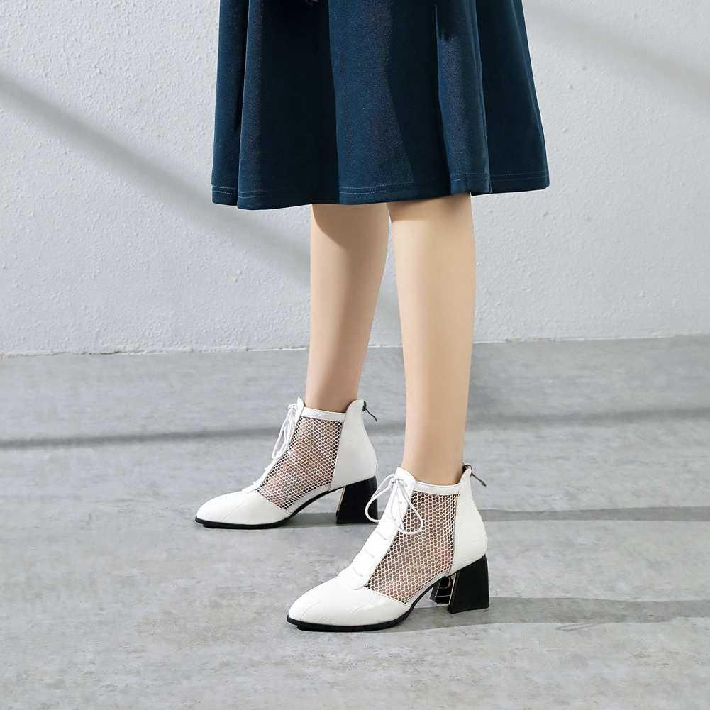 DORATASIA ยี่ห้อใหม่หญิงฤดูร้อนสูง Elegant เซ็กซี่รองเท้าผู้หญิงลูกไม้ขึ้นชี้นิ้วเท้ารองเท้าผู้หญิง