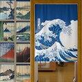 Японский льняной хлопковый плотный затемненный кухонный занавес для двери s Fengshui  ванная комната  спальня  домашний декор для входа  занавес...