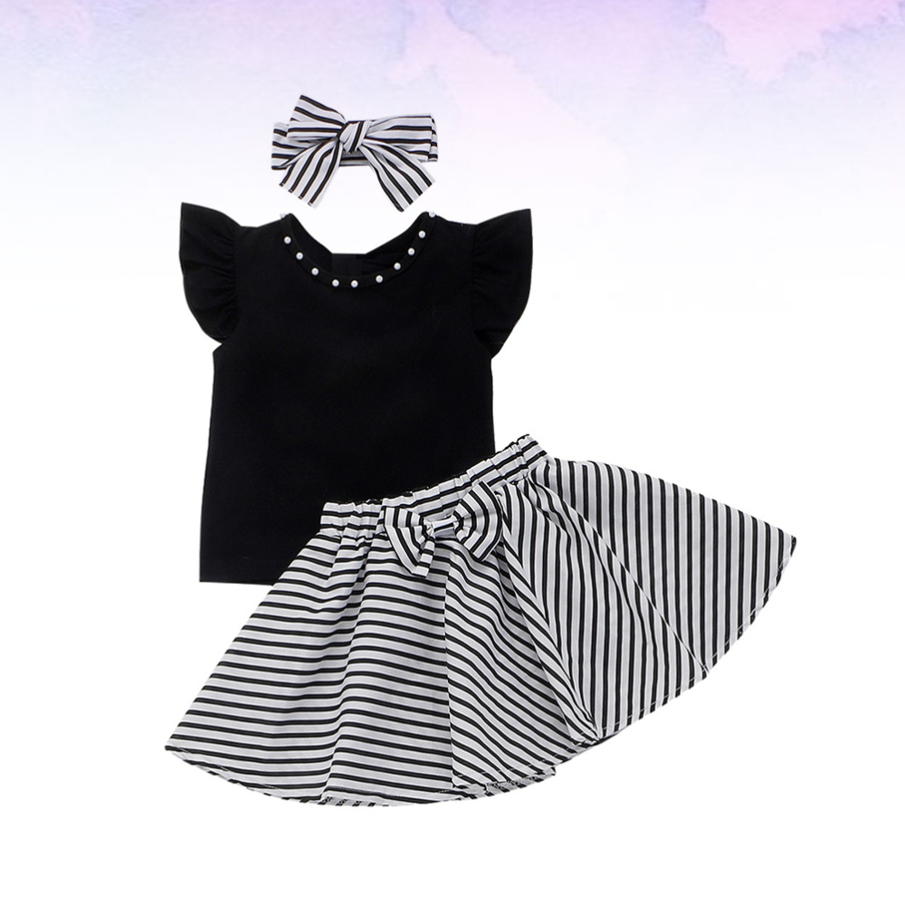 1 Set Halloween Girls Costumes Stylish Girl Party Clothing Soft Comfortable Tops Skirt Kit For Girl Wearing Tops Strip Dress He Candles Aliexpress