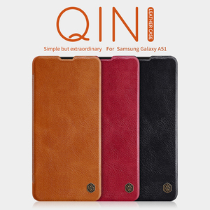 Image 2 - For Samsung Galaxy A51 phone case Nillkin Qin Series Flip Leather Case For Samsung A51 Luxury Wallet Cover