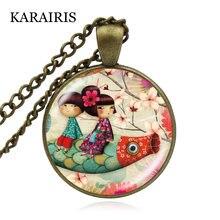 Ожерелье karairis с подвеской кабошоном ручной работы Модная