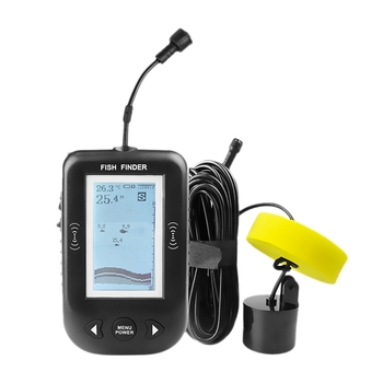 Xf02 45 Degrees Portable Wired Sonar Sounder Fish Finder Depth 100M Echo Sounder For Fishing In Russian Alarm Fishfinder