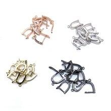 10 pares, accesorios de joyería de moda, cierres de pendientes, 4 colores, puede al por mayor