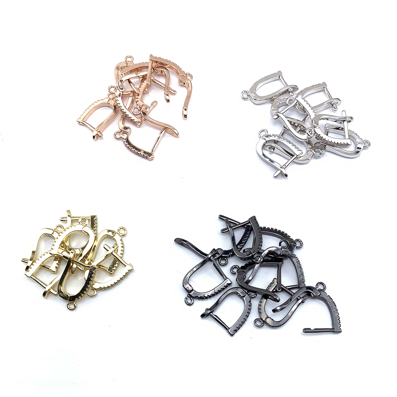 10Pairs, Fashion Jewelry Accessories, Earring Clasps, 4colors, Can Wholesale-in Jewelry Findings & Components from Jewelry & Accessories