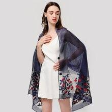 designer 2020 summer women scarf fashion floral silk