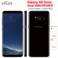 New Original Global Samsung Galaxy S8 Duos G950FD Dual SIMMobile Phone 4GB 64GB Exynos 8895 Octa Core 5.8 NFC 4G Android Phone