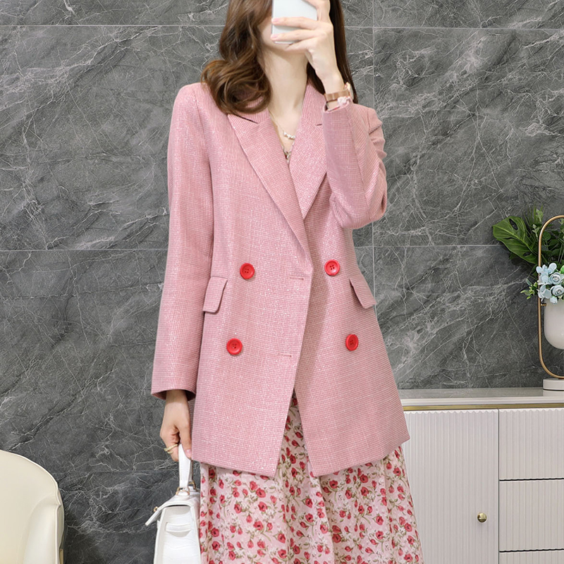 High quality plus size women's fashion women jacket Autumn and winter female professional mid-length Blazer M-5XL ladies suit