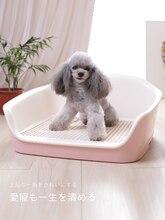 купить Dog Litter Box Automatic Flushing Dog Bedpan with Drawer Type Pet Dog Toilet Plastic Cat Toilet Training Pet Cat Toilet дешево