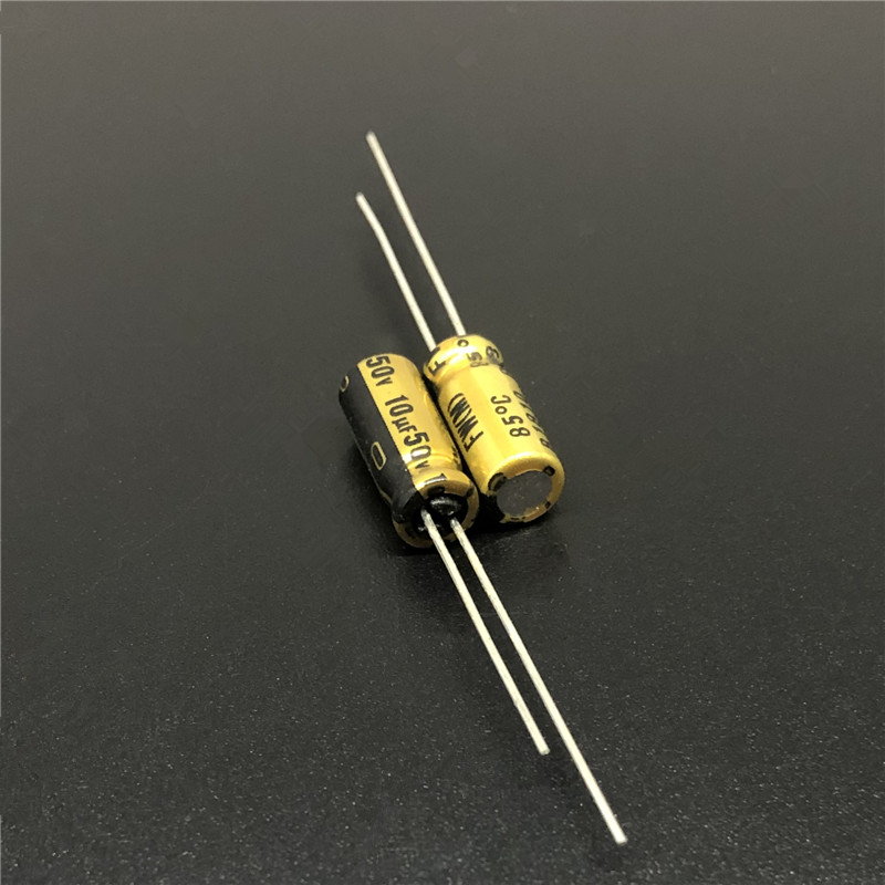 10pcs 10uF 50V NICHICON FW Series 5x11mm 50V10uF HiFi Audio Capacitor