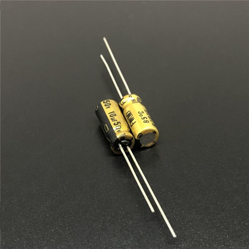 10pcs 10uF 50V NICHICON FW Series 5x11mm 50V10uF HiFi Audio Capacitor