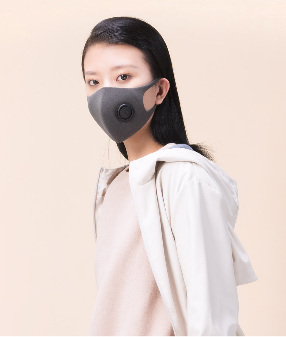 Xiaomi Mijia Smartmi Filter Mask Block 97% PM 2.5 with Ventilating Valve Long-lasting TPU Material 3 PCS Filter Mask Smart Home (5)