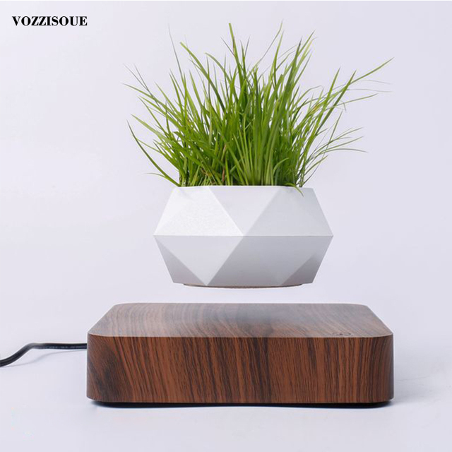 Hot Sale Levitating Air Bonsai Pot Rotation Planters Magnetic Levitation Suspension Flower Floating Pot Potted Plant Desk Decor 5