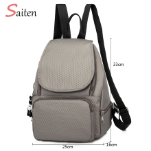 цена на Waterproof Nylon Backpack School Bags for Teenagers Girls Bolsas Mochilas Escolares Femininas Rucksacks Unisex Backpacks Chains
