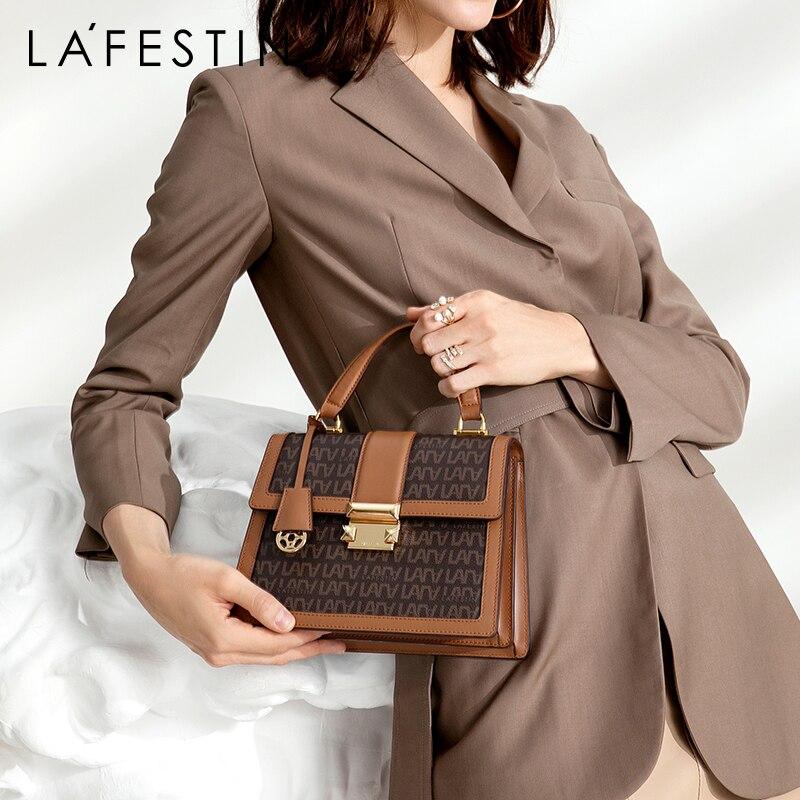 LAFESTIN Vintage Organ Tote 2019 New Women Luxury Tote Bag Large Capacity Shoulder Crossbody Bag Classic Handbag