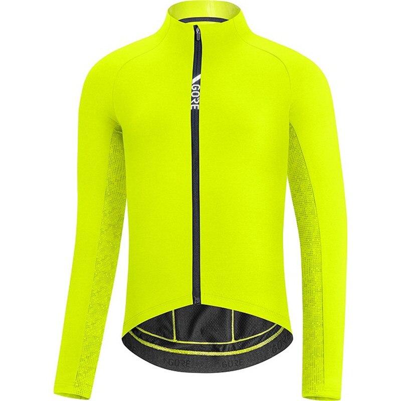 Гор 2020 зимние мужские Длинные рукава Комплект Одежда с содержанием шерсти флисовая Велоспорт Джерси MTB велосипедная форма Pro team горная доро...