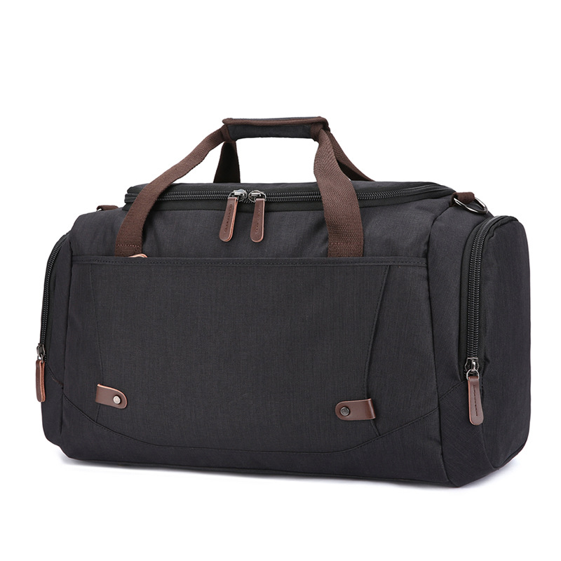 Large capacity travel bag anti splashing material for men and women pure color luggage travel bag - 5