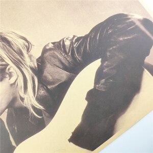 Image 4 - בציר קורט קוביין נירוונה סולן רוק פוסטר בית תפאורה בר רטרו קראפט נייר קיר מדבקת 51x35cm