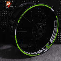 Pegatina personalizada para motocicleta, pegatina cubo de rueda para Kawasaki Z400 Z650 Z250, borde reflectante impermeable, pegatinas de rueda delantera y trasera