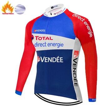 Invierno 2020 maillot invierno equipo de energía directa Ciclismo Jersey Ropa Ciclismo...