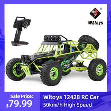 Wltoys 12428 1/12 Scale 2.4G 4WD RC Climbing Car 50km/h High Speed Electric RC Car Off Road Buggy Crawler Vehicle for Kids