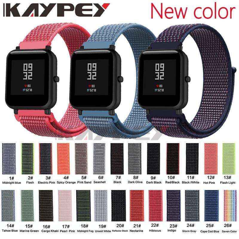 20mm Nylon Loop Woven Strap for Xiaomi Huami Amazfit Bip BIT Lite Youth Smart Watch Wearable Wrist Bracelet Amazfit Watchband