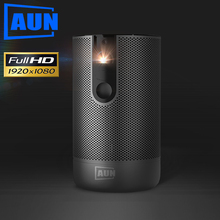AUN Full HD Projector D9 Android(2G+16G) WIFI Battery, Laser 3D DLP MINI Projector 1920x1080P GYM Beamer HDMI for 4K Video