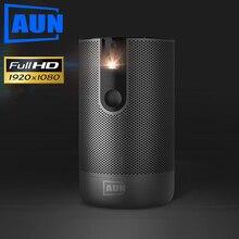 AUN Full HD Projektor D9 Android(2G + 16G) WIFI Batterie, laser 3D DLP MINI Projektor 1920x1080P GYM Beamer HDMI für 4K Video