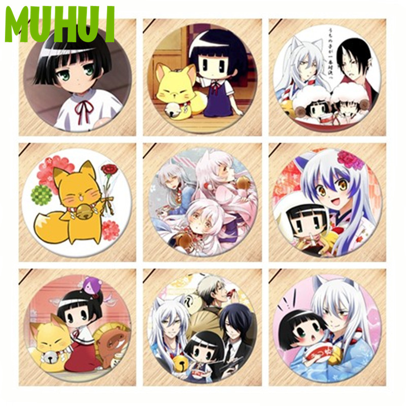 Free Shipping Anime Gugure! Kokkuri-san Brooch Pin Badge Accessories For Clothes Backpack Decoration Girls Gift B154