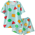 Pijama Sin Chan Women's Pajamas Woman Summer Cotton Pajamas Sets for Young Women Sleepwear Suit Couples Pyjamas Home Clothes