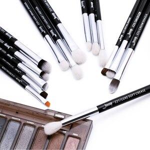 Image 5 - ジェサップ構成するブラシセットブラシ化粧ブラシ15個黒/シルバーアイライナーシェーダ自然な人工毛