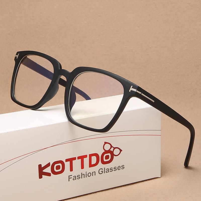 KOTTDO Classic Anti-blue Light Computer Eye Glasses Frames For Men Vintage Square Plastic Glasses Frame Women 2020