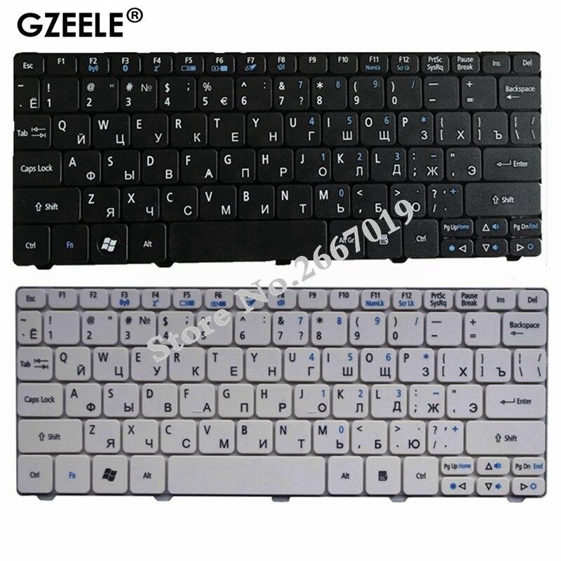 GZEELE لوحة المفاتيح لشركة أيسر أسباير واحد D255 D255E D257 AOD257 D260 D270 AOD260 AO521 AO532 AO533 532 532H 521 533 RU الروسية