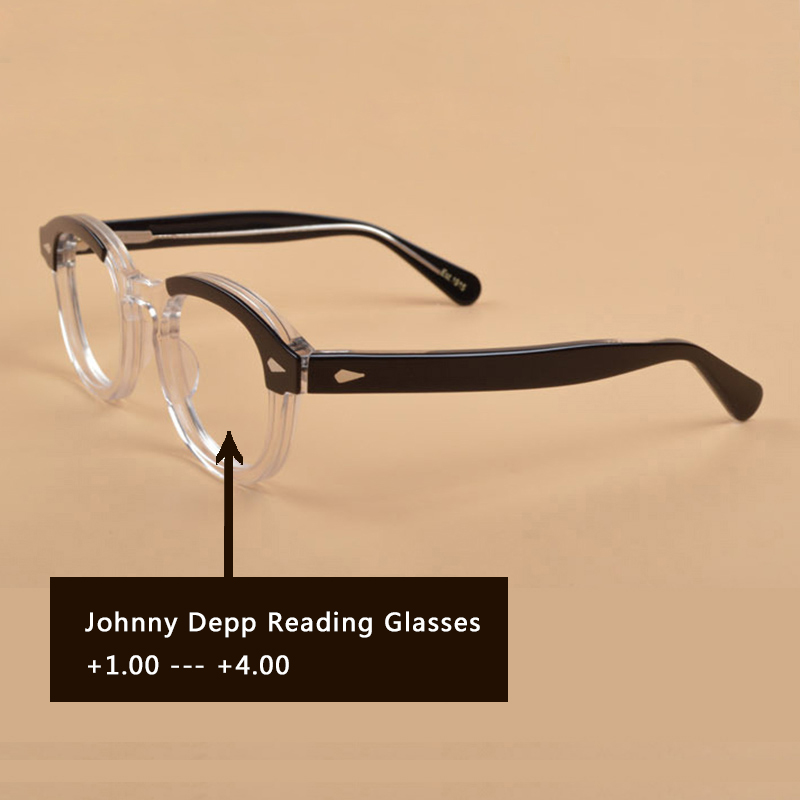 Johnny Depp Reading Glasses Men Woman Brand design Computer Goggles male Round Vintage Style Presbyo Eyeglasses s122