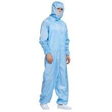 Диагональная молния шт защитная одежда луч пыли капюшон антистатические комбинезоны сетка маска с капюшоном Рабочая одежда