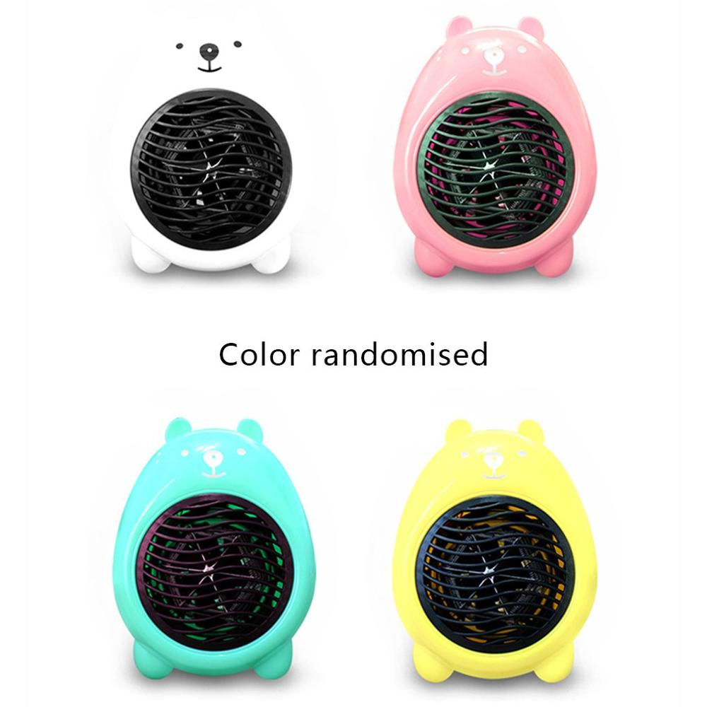 Mini Cartoon Heating Fan Heater Random Color Small Heater Fashion Desktop Household Heater Super-germinating Heater