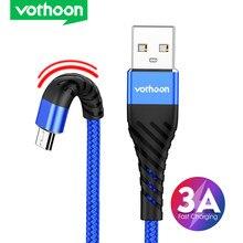 Vothoon micro cabo usb náilon carregamento rápido cabo de dados usb para samsung huawei xiaomi lg andriod micro usb cabos do telefone móvel