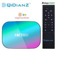 Hk1box 4gb 128gb 8k amlogic s905x3 smart tv box android 9.0 dual wifi 1080p 4k youtube set top box hk1 pk x96air x3 a95xf3