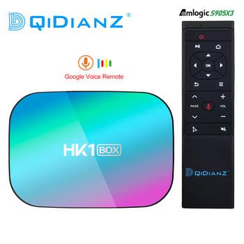 HK1BOX 4GB 128GB 8K procesor Amlogic S905X3 Smart TV BOX z systemem Android 9 0 podwójny Wifi 1080P 4K Youtube Set-Top Box HK1 pudełko PK X96AIR X3 A95XF3 tanie i dobre opinie DQiDianZ 100 M CN (pochodzenie) Other 64 GB eMMC Brak 4G DDR3 0 45 DC 5 V 2A Karty TF Do 32 GB Mail-G31 MP2 Wliczone w cenę