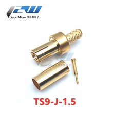 5pcs TS9 Male /TS9 Male Right Angle Connector RF Coaxial Crimp for RG174 RG316 RG178 Coaxial Cable