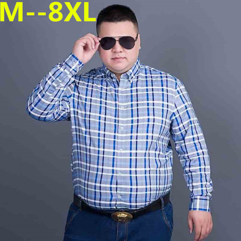 10XL 8XL 6XL 5XL 4XL  New Arrival Men's Shirt Long Sleeve Shirt Mens Dress Shirts Brand Casual Business Style Shirts Cotton