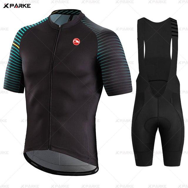 Conjunto camisa da bicicleta de estrada roupas ciclismo verão mtb roupas da equipe dos homens manga curta uniforme triathlon skinsuit ropa hombre 2020 5