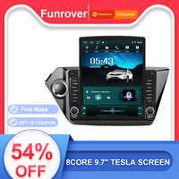 Funrover 9.7 Tesla schermo Android9.0 auto multimedia video Player radio di navigazione gps Per KIA K2 RIO 3 2011- 2016 nodvd 2.5D + IPS