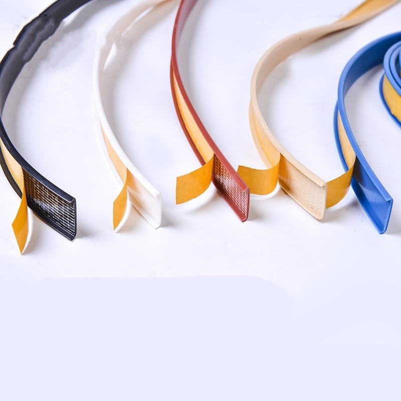 1M Self Adhesive Furniture Edge Banding Seal Tape 18mm U Type Cabinet Closet PVC Veneer Sheets Desk Edge Guard Strip Decoration