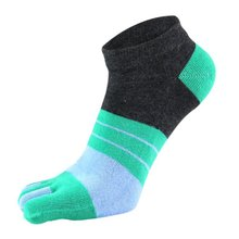 Summer Mens Socks Cotton Five Finger Breathable Calcetines Male Ankle Casual Toe